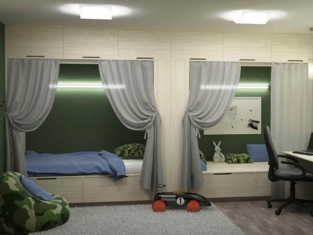Детская комната для 2 мальчиков дизайн фото